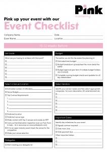 PINK - EVENT PLANNING CHECKLIST