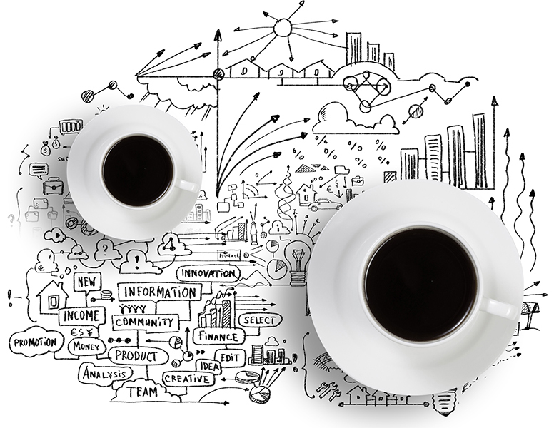 Marketing map & cups